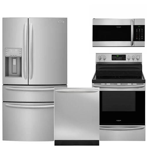 Packages - Frigidaire Gallery Premium Kitchen Package with AirFry Range in SmudgeProof Stainless Steel