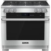Miele M-Touch Series 36 Inch Pro-Style Dual-Fuel Range  6 M Pro Dual Stacked Sealed Burners  TwinPower Convection Oven  Wireless Roast Probe