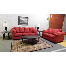 4545 Red Sofa & Loveseat