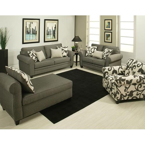 Comfort Industries - Grey Stationary Loveseat