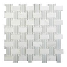 ES01 Essence Glass / Stone Woven Mosaic - WHITE
