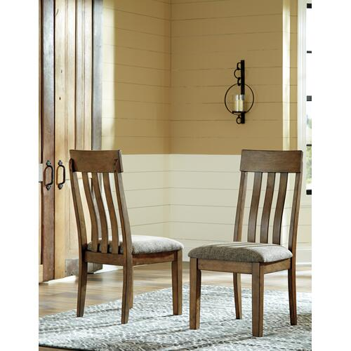 Flaybern Table & 4 Chairs & Bench Brown
