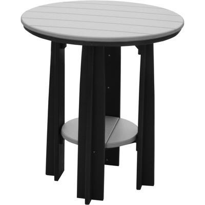 Balcony Table Dove Gray and Black