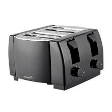 Brentwood TS-285 Cool Touch 4-Slice Toaster, Black