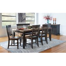 Vista Dining Table in Hickory and Coal