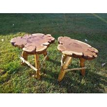 See Details - Cherry Burl End Tables