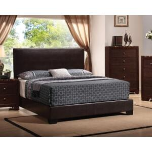 Coaster - Brown Leather Bed