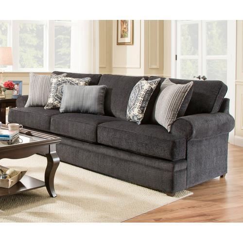 Simmons Upholstery - UNITED 8530BRS Bellamy Slate Sofa