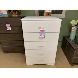 GF Furniture 5 drawer chest white