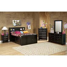 "Full Captains Bed W"" 4 Drawers Black Cherry"