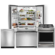 JENNAIR  Stainless Steel 21.93 Cu.Ft French Door -3pc Kitchen Package- Minor Case Imperfections