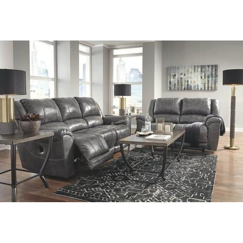 Ashley 607 Persiphone Charcoal Reclining Sofa & Love