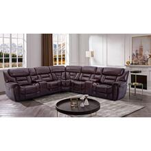 CHEERS 70039 6-Piece Banner Mahogany Power Reclining Sectional Sofa