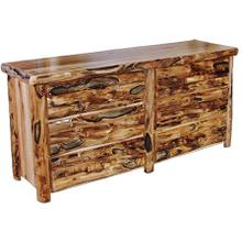 6 Drawer Dresser Log Front Wild Panel Gnarly Log