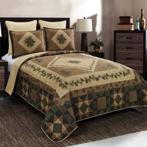 Antique Pine King Quilt Set