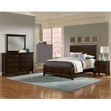 King Merlot 4 PC Bedroom Set - Sleigh Bed
