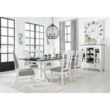 Nashbryn Two-Tone Rectangular Extension Table, 2 Padded Chairs, and 4 Upholstered Chairs