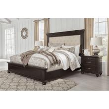Brynhurst - Dark Brown - Queen Upholstered Panel Bed