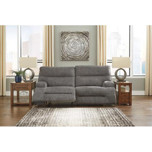 Signature Design By Ashley - Coombs 2 Seat Reclining Sofa Charcoal