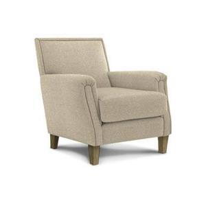 Madelyn Club Chair in Stone Fabric