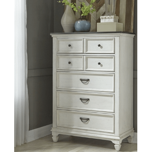 Liberty Furniture Industries - ALLYSON PARK Queen Panel Bed in a Brushed White Finish      *Chest, Dresser, Mirror, N.Stand also sold separately*    (417B,62903,06,07,02)