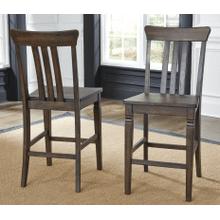 See Details - Slat Back Barstool