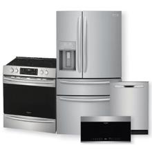FRIGIDAIRE GALLERY 21.8 Cu. Ft. Counter-Depth 4-Door French Door Refrigerator & Electric Range w/ Air Fry Package