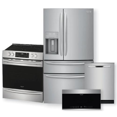 FRIGIDAIRE GALLERY 21.8 Cu. Ft. Counter-Depth 4-Door French Door Refrigerator & Electric Range w/ Air Fry Package