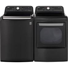 LG 5.5 cu.ft. Black Steel Top Load Washing Machine with TurboWash 3D and 7.3 cu. ft. Black Steel Electric Dryer with TurboSteam, ENERGY STAR