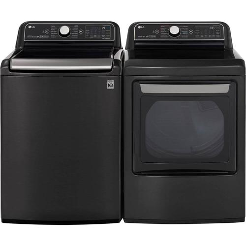 Packages - LG 5.5 cu.ft. Black Steel Top Load Washing Machine with TurboWash 3D and 7.3 cu. ft. Black Steel Electric Dryer with TurboSteam, ENERGY STAR