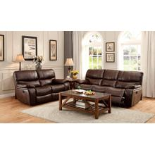 Pecos- Brown Reclining Sofa and Loveseat