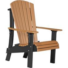 Royal Adirondack Chair Cedar and Black
