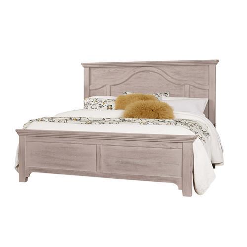 Vaughan-Bassett - King Bungalow Mantel Bed - Dover Grey Finish