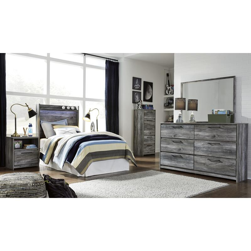 View Product - Baystorm - Gray 4 Piece Kids Bedroom Set