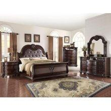 Stanley Kg Bed, Dresser, Mirror, Chest and Nightstand