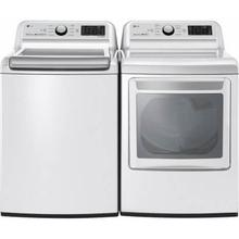 LG TurboWash 3D Smart Wi-Fi Enabled 5 Cu Ft High Efficiency Top-Load Washerand EasyLoad Smart Wi-Fi Enabled 7.3 Cu Ft Electric Dryer - Energy Star