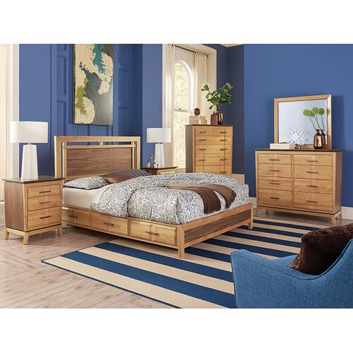 DUET Addison Queen Panel Storage Bed Duet Finish