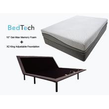 BEDTECH Tranquility King Mattress & X2 Adjustable Foundation
