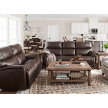 Trouper Leather Reclining Sofa in Walnut       (440-724 LB172779,44991)