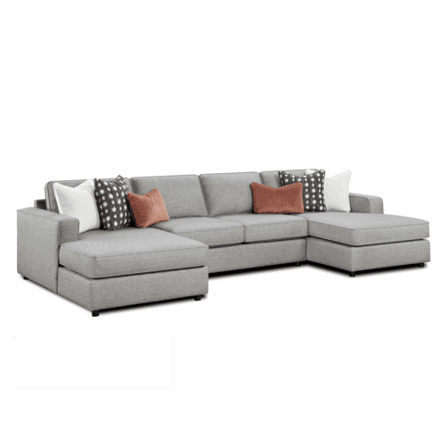 Monroe Ash Sectional w/ Double Chaise
