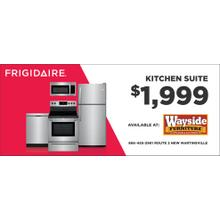 Frigidaire 4 Piece Stainless Steel package
