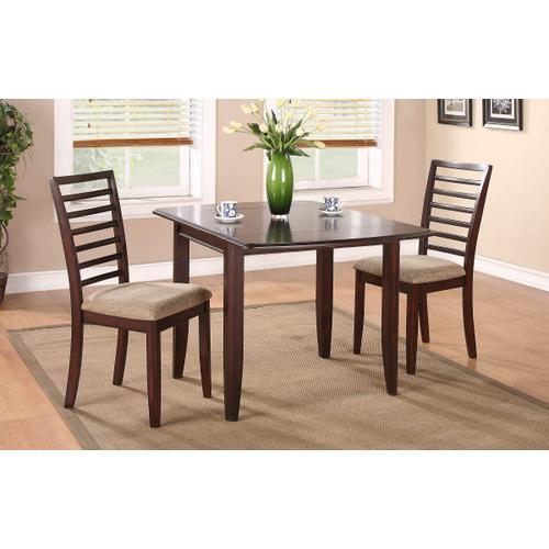 """Brownstone Table with Two 10"""" Drop Leaves"""