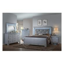 CrownMark 4 Pc Queen Bedroom Set, Lillian B7100