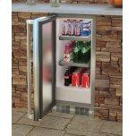 "MarvelMarvel 15"" Built-in Outdoor Refrigerator, 2.9 cu. ft. Capacity, 70 12-oz. Can Storage, 2 Stainless Steel Shelves, Security Lock - Stainless Steel, Left Hinge"