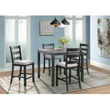 Product Image - 5-Piece Martin Counter Height Dining Set in Grey & Black Finish