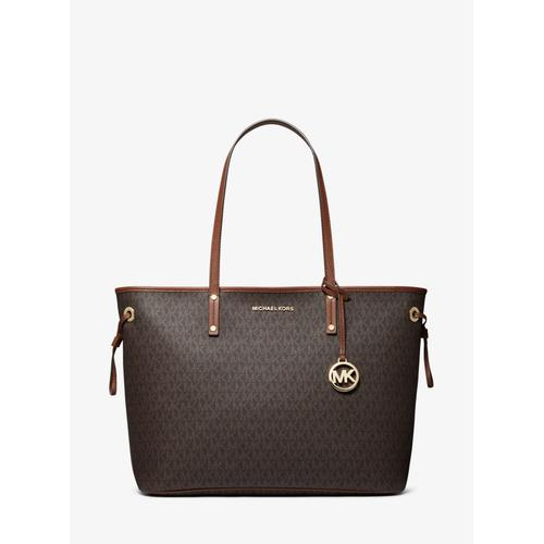 MICHAEL KORS Jet Set Travel Logo Tote Bag - Brown
