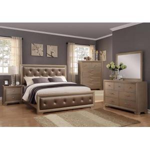 CrownMark 4 Pc Queen Bedroom Set, Fontaine B1700