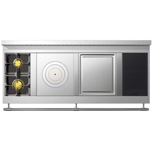 Chateau 165 (L2) - 2-Burners - 1-French Plaque - 1-Teppanyaki -  2-Induction Hobs