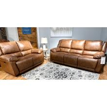 See Details - Ritz Whiskey Leather Power Reclining Sofa & Loveseat