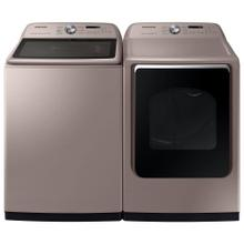See Details - Samsung 5.4 cu. ft. High-Efficiency Champagne Top Load Washing Machine with Super Speed and Steam, ENERGY STAR and 7.4 cu. ft. Champagne Electric Dryer with Steam Sanitize , ENERGY STAR